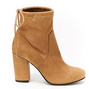 Shoes - Camel colored tie booties